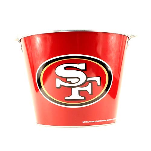 NFL Aluminum Beer Bucket 5 QT Drink Party Pail Ice Metal  - Choose Your Team