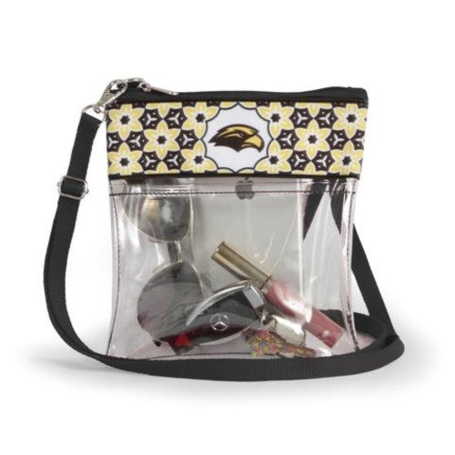 SOUTHERN MISS GOLDEN EAGLES CLEAR GAME DAY CROSSBODY BAG STADIUM APPROVED PURSE