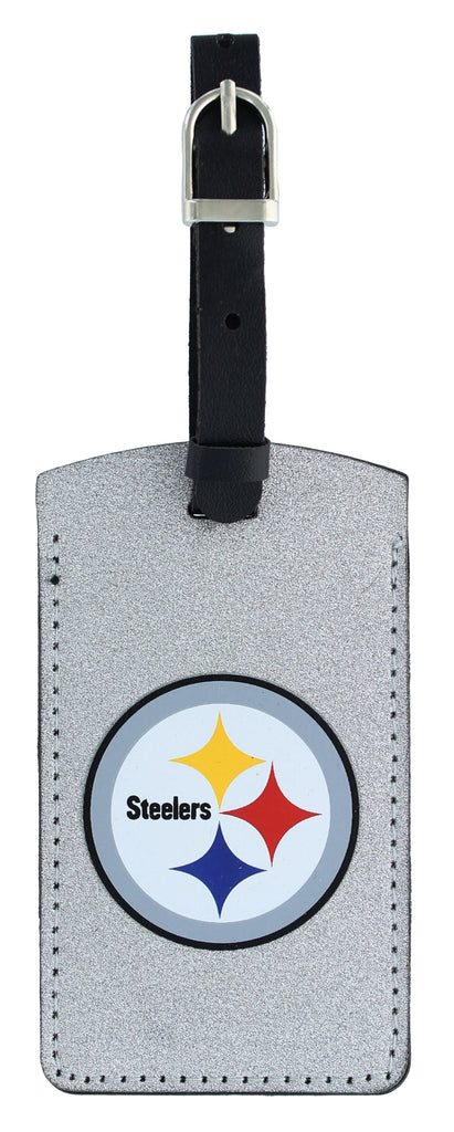 PITTSBURGH STEELERS SPARKLE BAG TAG FOOTBALL LUGGAGE NFL ID INFORMATION TRAVEL