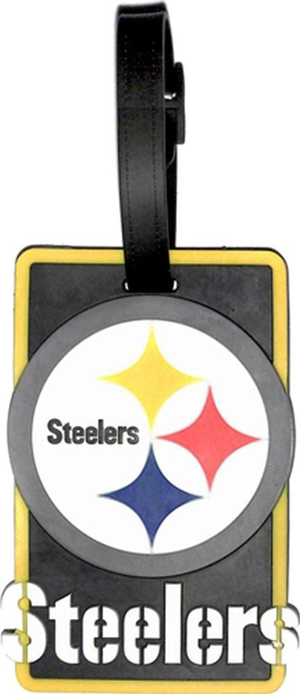 PITTSBURGH STEELERS SOFT BAG TAG FOOTBALL LUGGAGE NFL ID INFORMATION TRAVEL