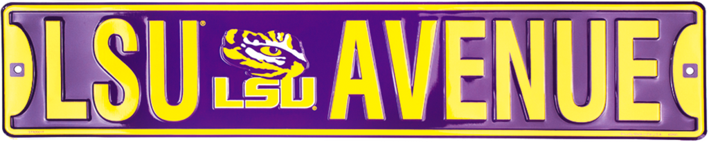 Lsu Tigers Street Sign Lsu Avenue Ave