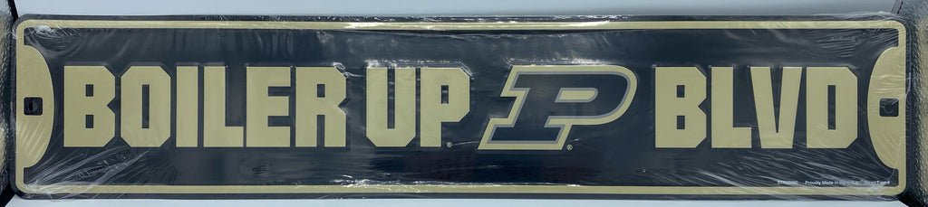 PURDUE UNIVERSITY METAL STREET SIGN BOILERMAKERS BLVD