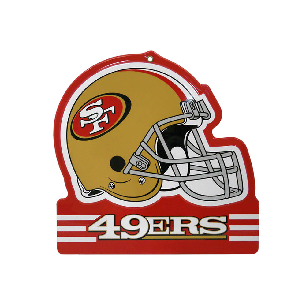 San Francisco 49ers Metal Helmet Sign 8x8 NFL Die Cut Steel