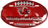 SOUTH CAROLINA GAMECOCKS CAR TAG OVAL FOOTBALL LICENSE PLATE