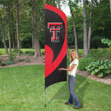 TEXAS TECH RED RAIDERS 8.5 FOOT TALL TEAM FLAG 11.5' POLE SIGN BANNER APPLIQUE TAILGATES