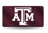 TEXAS A&M AGGIES RED MIRROR CAR TAG LASER LICENSE PLATE AUTO UNIVERSITY CAR