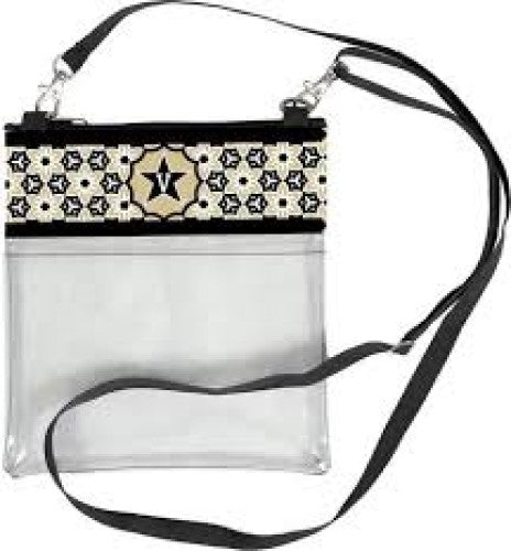VANDERBILT COMMODORES CLEAR GAME DAY CROSSBODY BAG STADIUM APPROVED PURSE VANDY