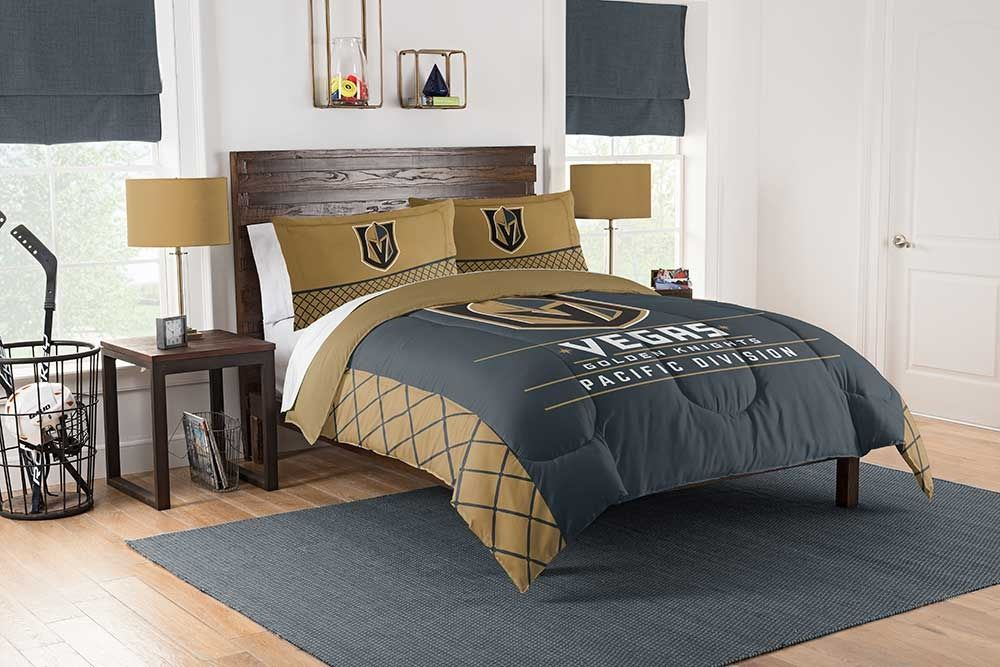 Vegas Golden Knights Full/Queen Comforter And Sham 3Pc Set Draft Northwest Nhl