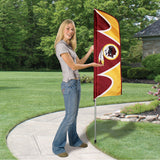 WASHINGTON REDSKINS 6 FOOT TALL SWOOPER FLAG DOUBLE SIDED