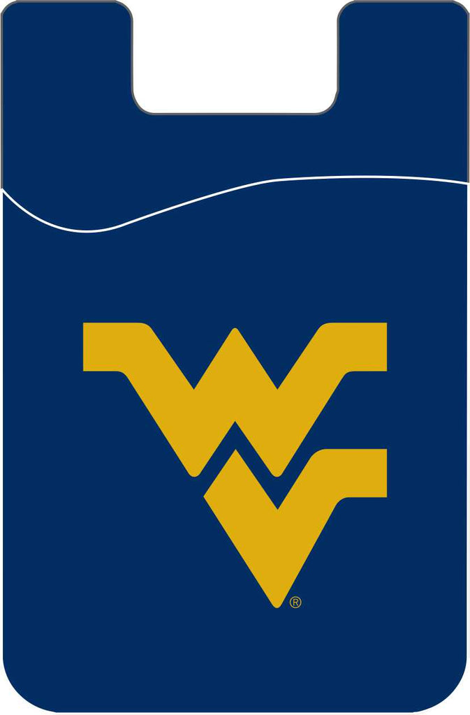 WEST VIRGINIA MOUNTAINEERS CELL PHONE CARD HOLDER WALLET SOLID COLOR