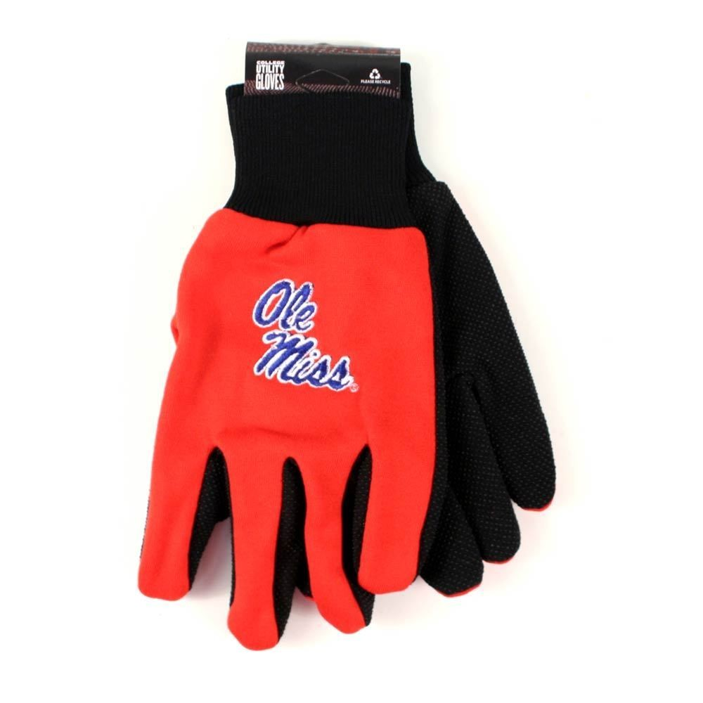 College Sport Utility Work Play Gloves Ncaa No Slip Grip Adult Pick Your Team
