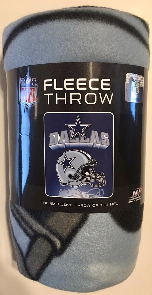 "NFL SOFT FLEECE THROW 50""x 60"" STADIUM BLANKET NEW FOOTBALL - PICK YOUR TEAM"