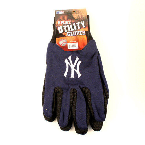 MLB SPORT UTILITY WORK PLAY BASEBALL GLOVES NO SLIP GRIP ADULT - PICK YOUR TEAM
