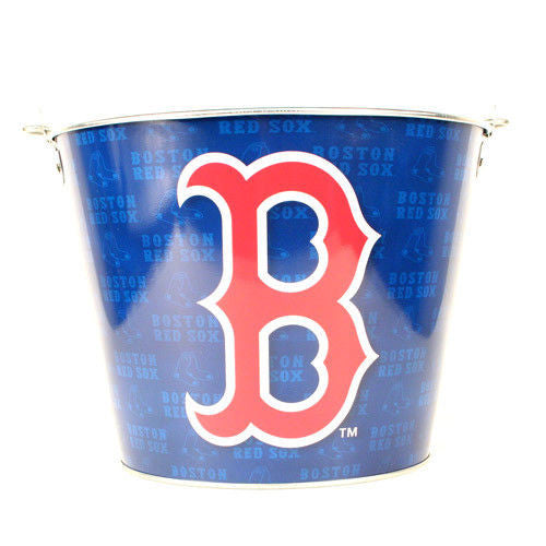 MLB ALUMINUM BEER BUCKET 5 QT DRINK PARTY ICE METAL PAIL - CHOOSE YOUR TEAM