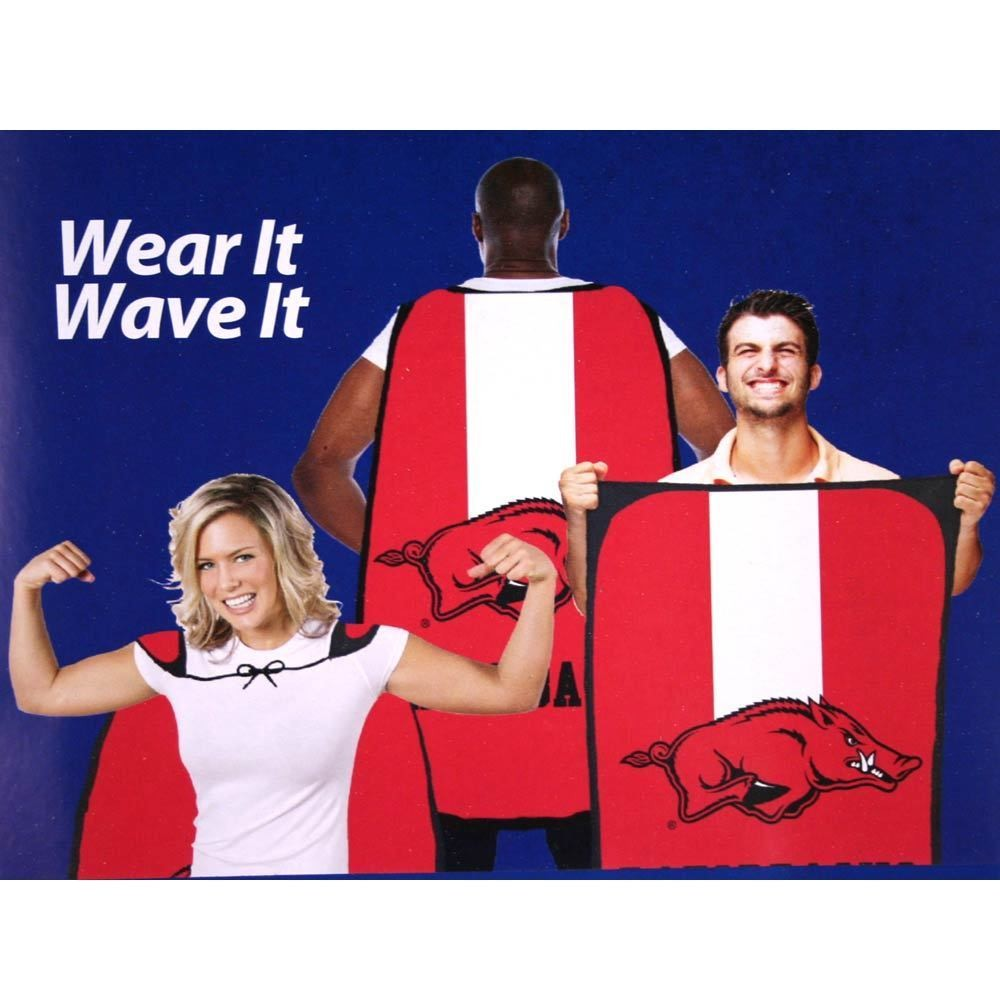 "Fan Flag Banner Cape NCAA 31.5"" x 47"" Tailgating Wear It Wave It-Pick Your Team"