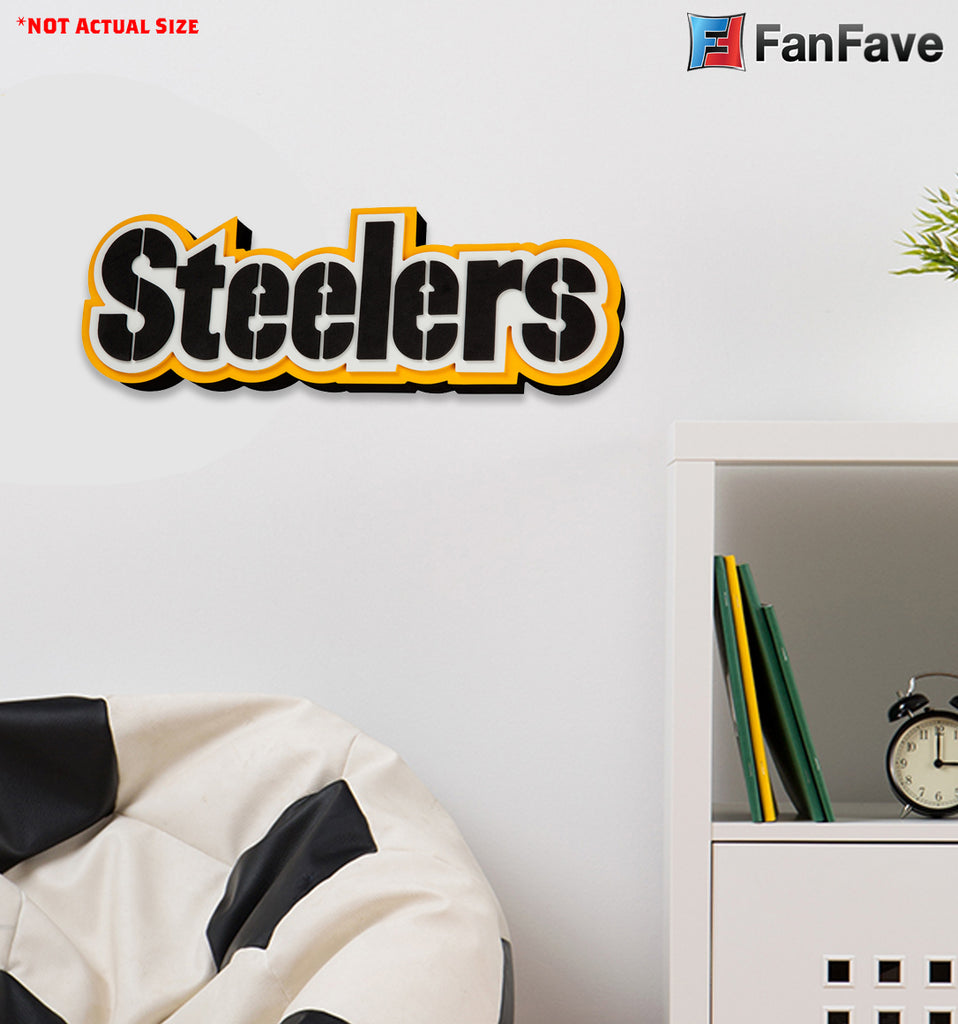 Pittsburgh Steelers 3D Foam Wall Logo Sign Fan Mancave Office Sports Room