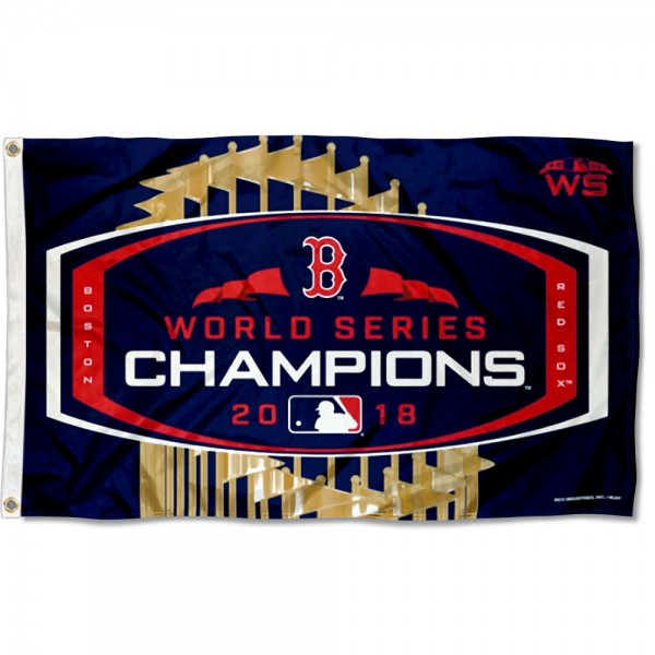 BOSTON RED SOX WORLD SERIES CHAMPIONS 2018 3'X 5' BANNER FLAG
