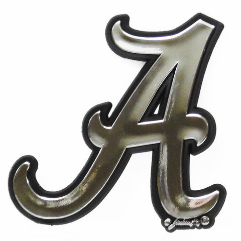 ALABAMA CRIMSON TIDE CAR TRUCK TAG LICENSE PLATE FRAME UNIVERSITY SILVER BLACK