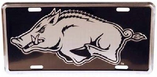 ARKANSAS RAZORBACKS ELITE CAR TRUCK TAG LICENSE PLATE BLACK SIGN UNIVERSITY