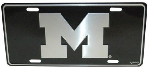 MICHIGAN WOLVERINES ELITE CAR TRUCK TAG LICENSE PLATE BLACK SIGN M UNIVERSITY