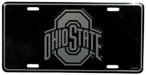 OHIO STATE UNIVERSITY BUCKEYES  ELITE CAR TRUCK TAG LICENSE PLATE BLACK SIGN