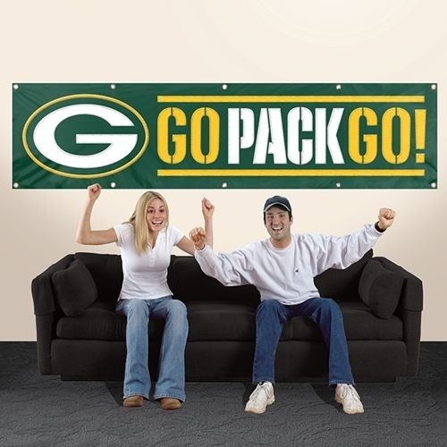 GREEN BAY PACKERS 8' X 2' BANNER 8 FOOT HEAVYWEIGHT NYLON SIGN GO PACK GO NFL