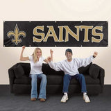 NEW ORLEANS SAINTS 8' X 2' BANNER 8 FOOT HEAVYWEIGHT NYLON SIGN GROMMETS PREMIUM