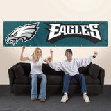 PHILADELPHIA EAGLES 8' X 2' BANNER 8 FOOT HEAVYWEIGHT NYLON SIGN GROMMETS FLAG