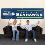 SEATTLE SEAHAWKS 8' X 2' BANNER 8 FOOT HEAVYWEIGHT NYLON SIGN GROMMETS PREMIUM