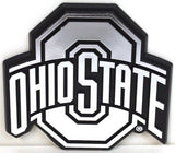 OHIO STATE CAR EMBLEM CHROME BUCKEYES LOGO SIGN UNIVERSITY AUTO TRUCK VEHICLE