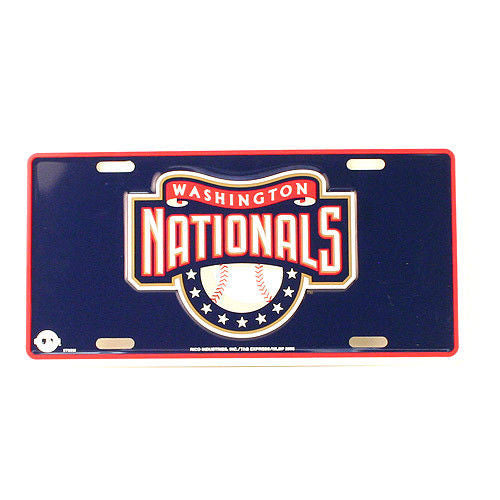 WASHINGTON NATIONALS CAR TRUCK TAG LICENSE PLATE EMBOSSED METAL SIGN MAN CAVE