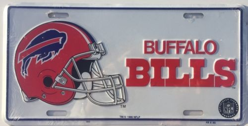"BUFFALO BILLS CAR TRUCK TAG LICENSE PLATE 6"" X 12"" NFL FOOTBALL SIGN HELMET"