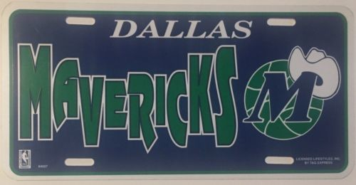 "Dallas Mavericks Car Truck Tag License Plate 6"" X12"" Basketball Sign Plastic Nba"