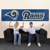 LOS ANGELES RAMS 8' X 2' BANNER 8 FOOT HEAVYWEIGHT NYLON SIGN GROMMETS FLAG NFL