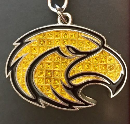 Southern Miss Golden Eagles Bling Keychain Shanghi Diamond USM Mississippi Univ