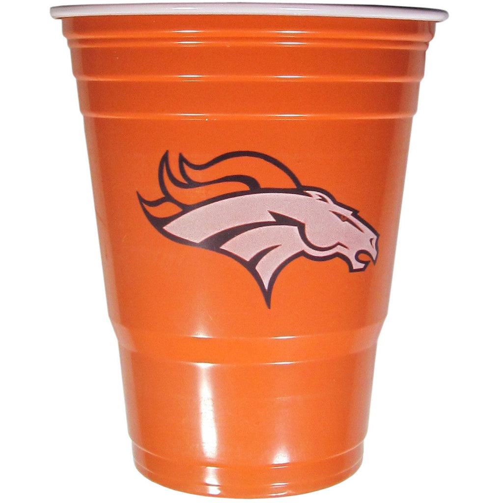 DENVER BRONCOS PLASTIC GAMEDAY CUPS 18OZ 18CT SOLO TAILGATE PARTY SUPPLIES GAME