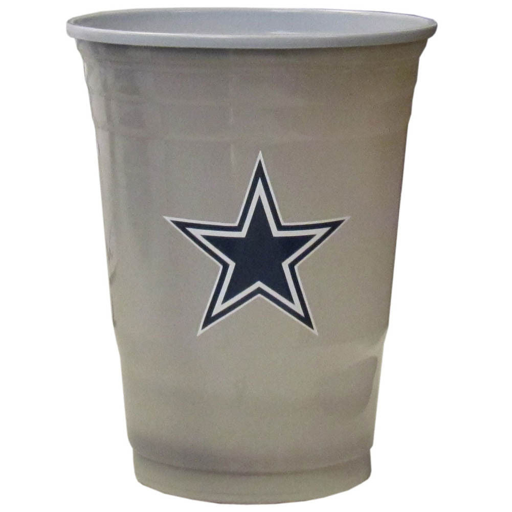 DALLAS COWBOYS PLASTIC GAMEDAY CUPS 18OZ 18CT SOLO TAILGATE PARTY SUPPLIES GAME