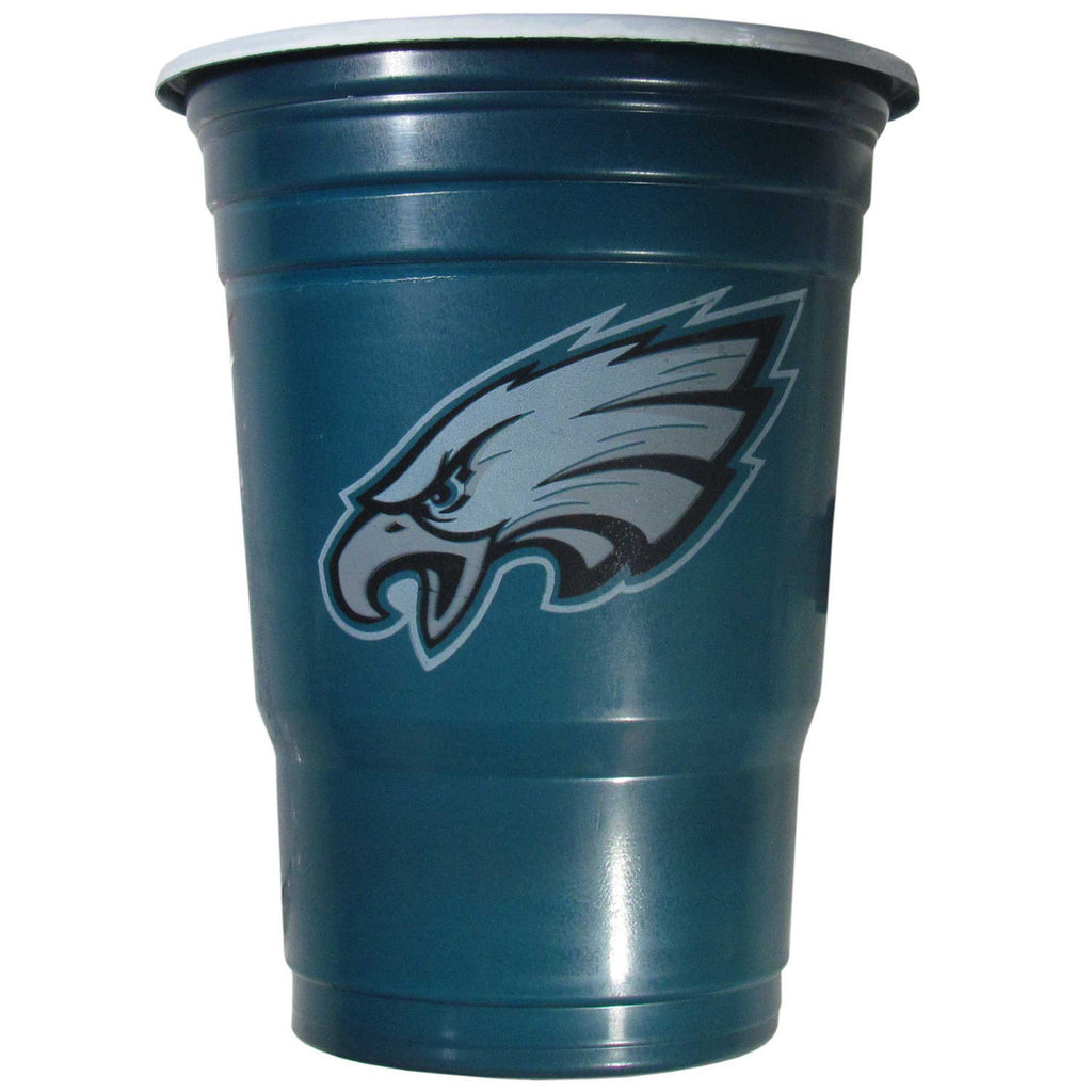 PHILADELPHIA EAGLES PLASTIC GAMEDAY CUPS 18OZ 18CT SOLO TAILGATE PARTY SUPPLIES