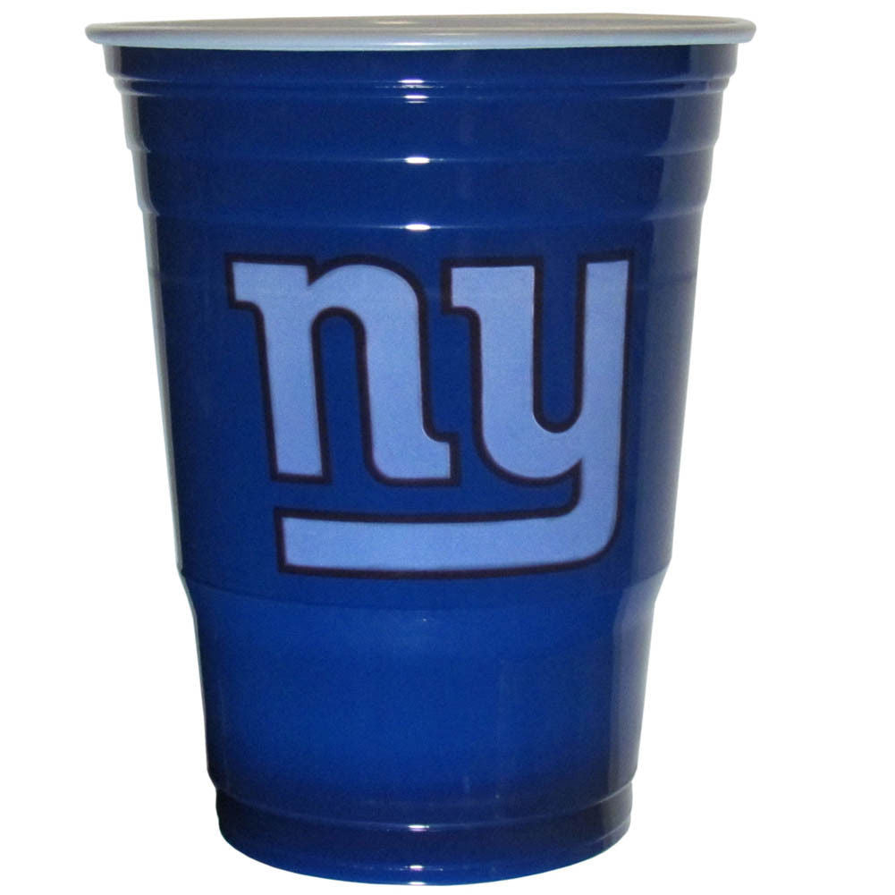 NEW YORK GIANTS PLASTIC GAMEDAY CUPS 18OZ 18CT SOLO TAILGATE PARTY SUPPLIES GAME