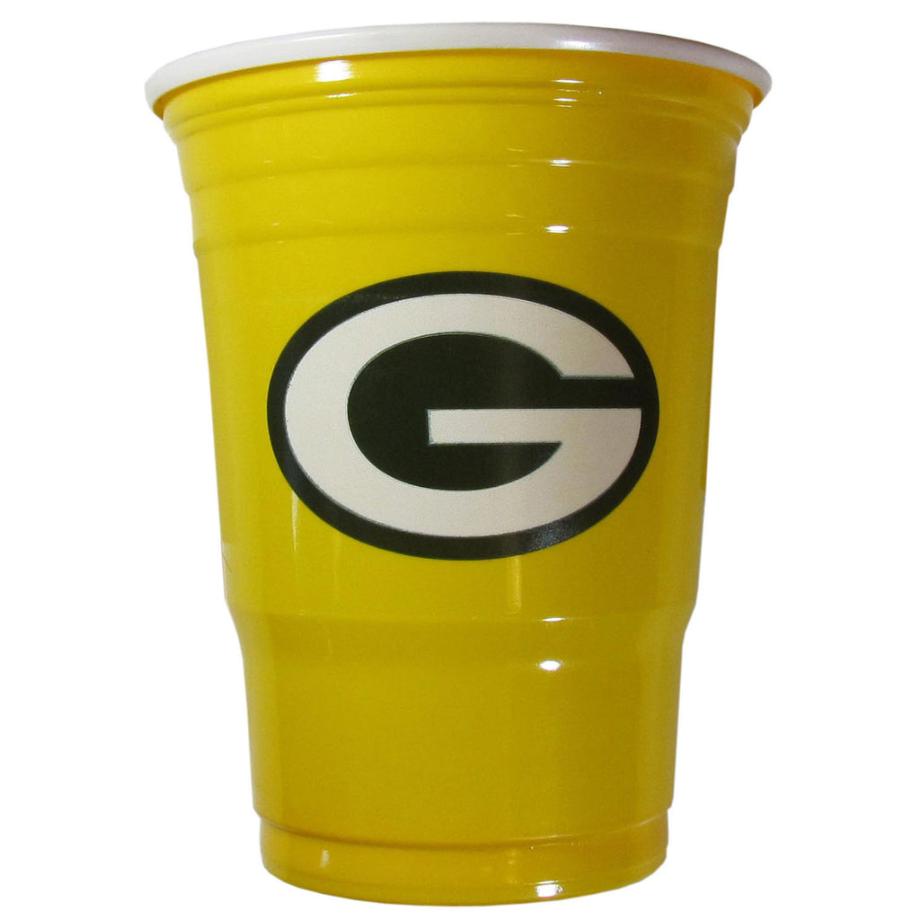 GREEN BAY PACKERS PLASTIC GAMEDAY CUPS 18OZ 18CT SOLO TAILGATE PARTY SUPPLIES