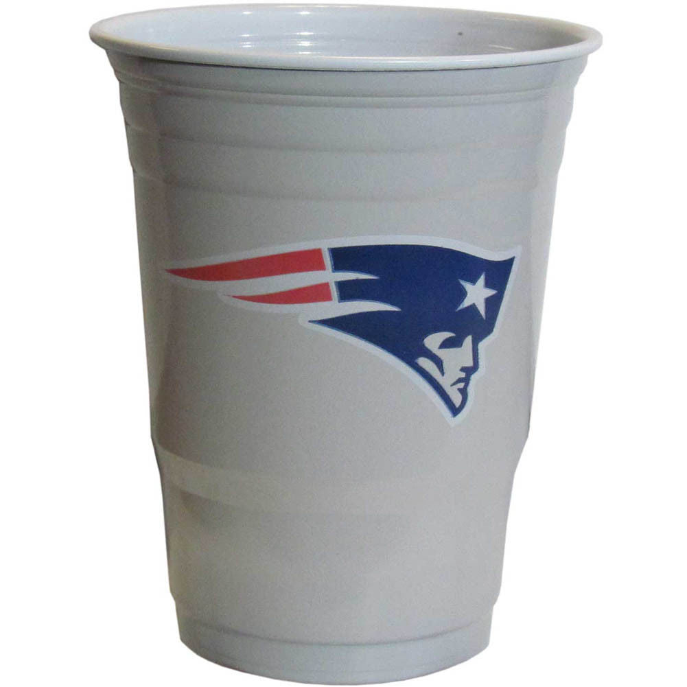 NEW ENGLAND PATRIOTS PLASTIC GAMEDAY CUPS 18OZ 18CT SOLO TAILGATE PARTY SUPPLIES