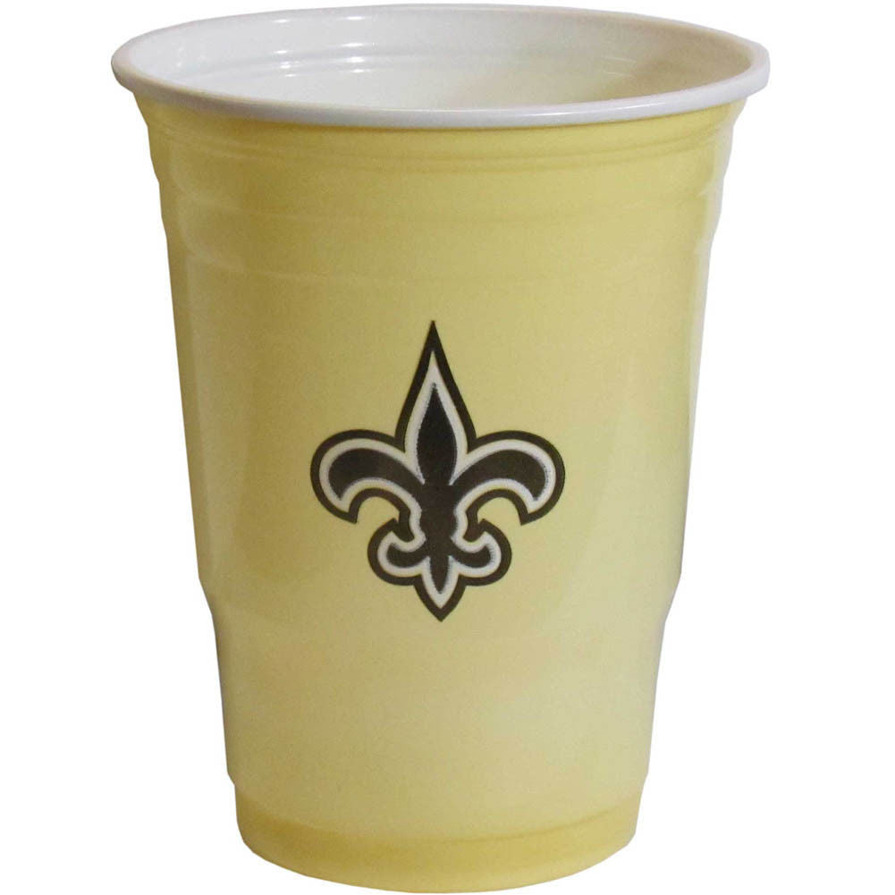 NEW ORLEANS SAINTS PLASTIC GAMEDAY CUPS 18OZ 18CT SOLO TAILGATE PARTY SUPPLIES