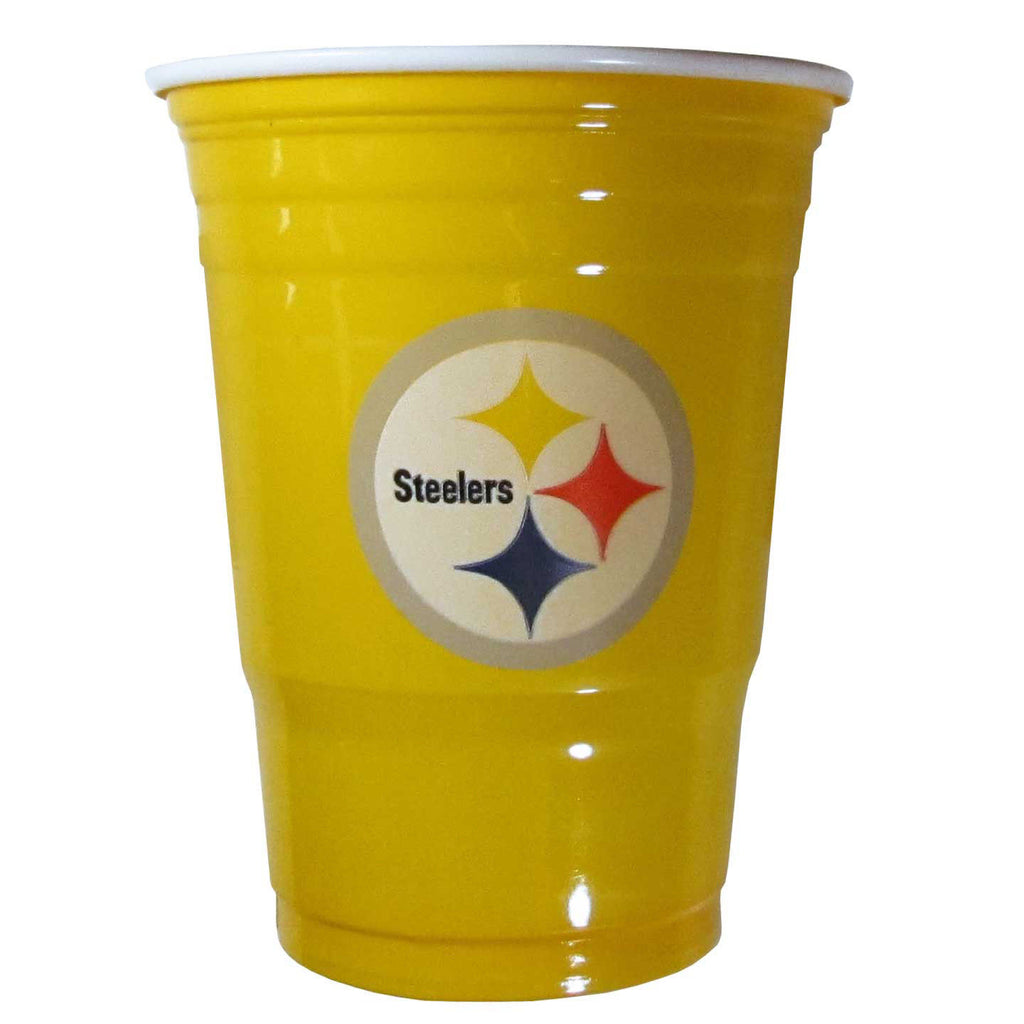 PITTSBURGH STEELERS PLASTIC GAMEDAY CUPS 18OZ 18CT SOLO TAILGATE PARTY SUPPLIES