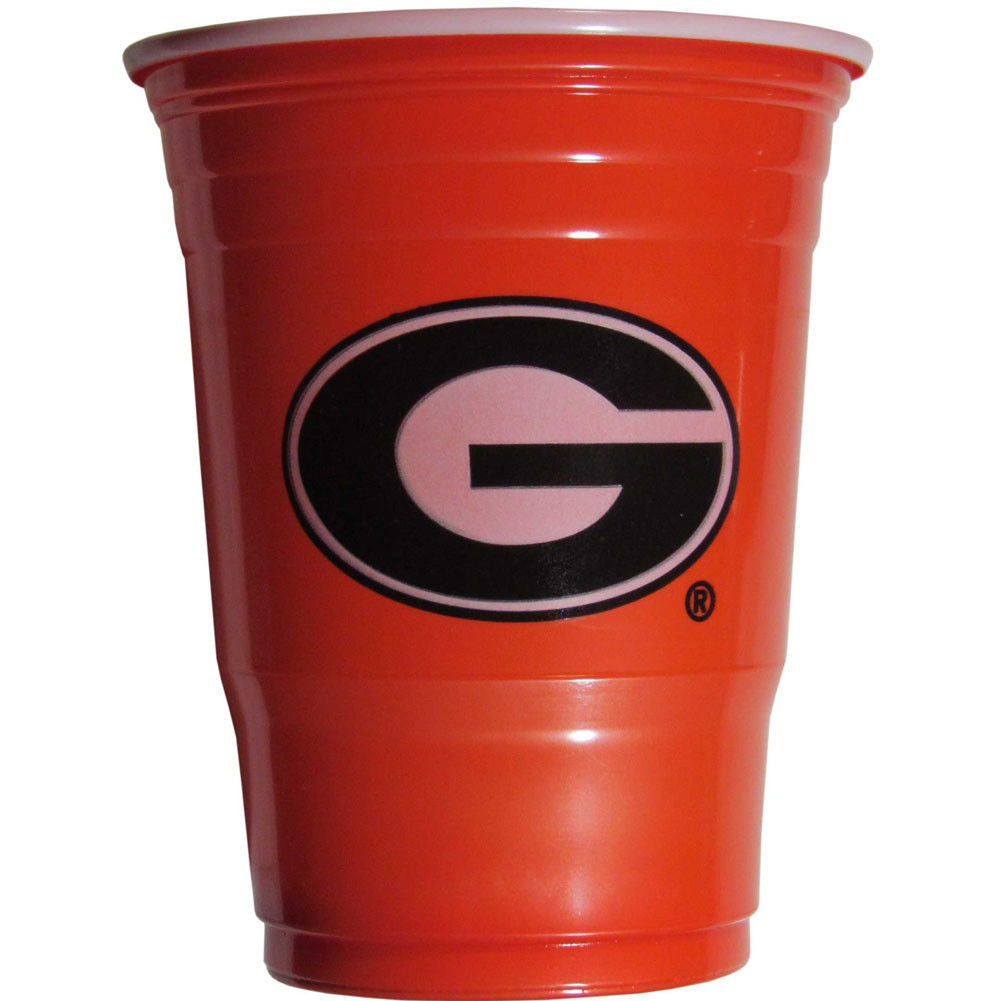 GEORGIA BULLDOGS PLASTIC GAMEDAY CUPS 18OZ 18CT SOLO TAILGATE PARTY SUPPLIES