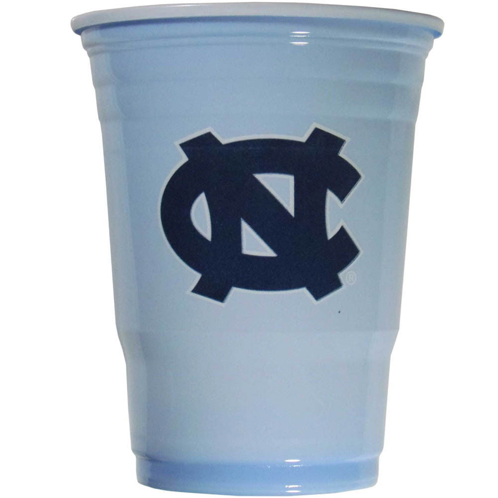 NORTH CAROLINA TAR HEELS PLASTIC GAMEDAY CUPS 18OZ 18CT TAILGATE PARTY SUPPLIES