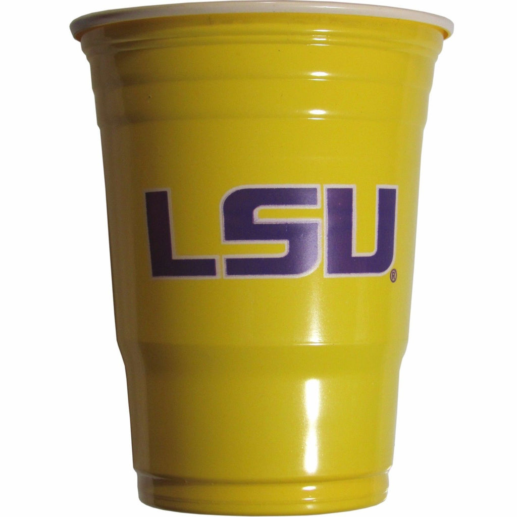 LSU TIGERS DRINKWARE GAMEDAY CUPS PLASTIC 18OZ