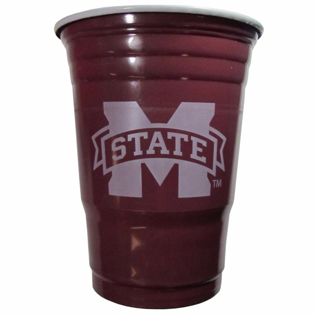 MISSISSIPPI STATE BULLDOGS PLASTIC GAMEDAY CUPS 18OZ 18CT SOLO TAILGATE PARTY
