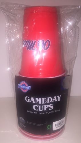 OLE MISS REBELS DRINKWARE GAMEDAY CUPS 18OZ PLASTIC