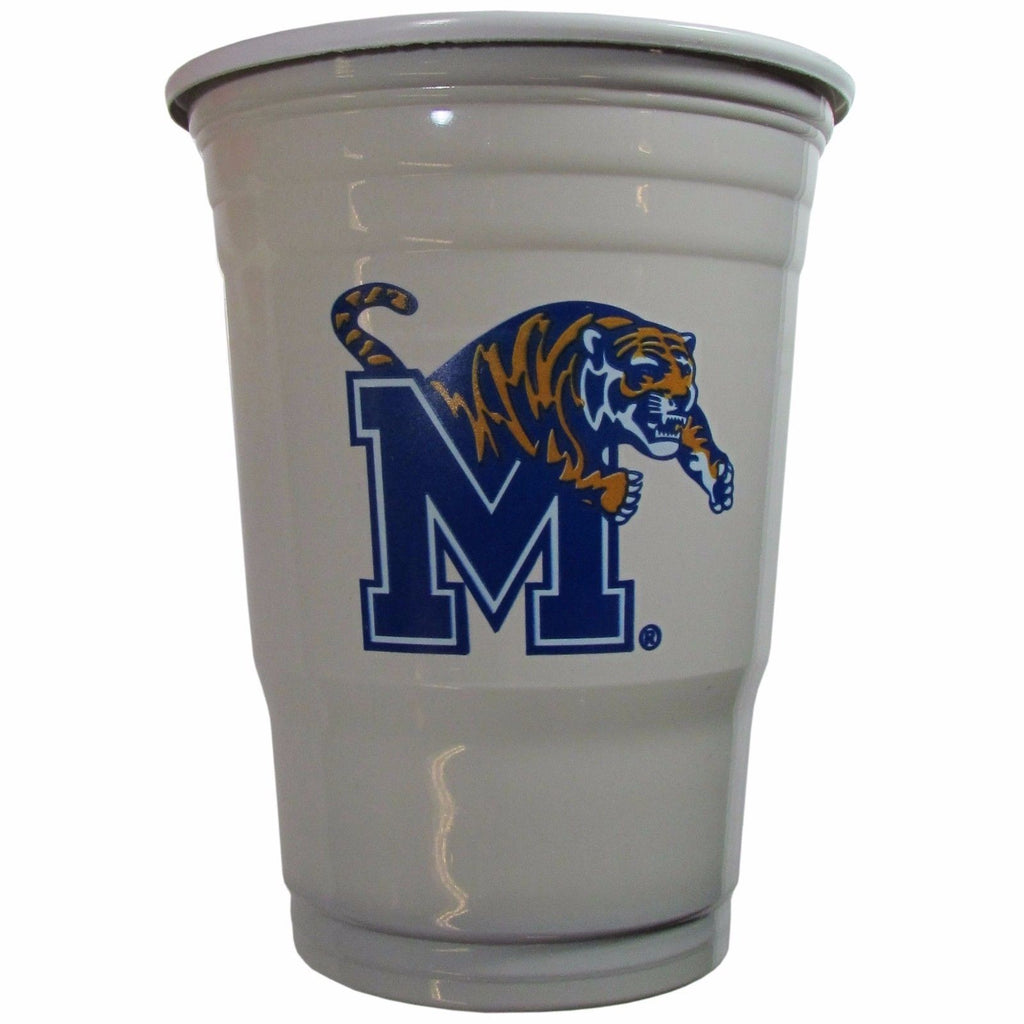 MEMPHIS TIGERS PLASTIC GAMEDAY CUPS 18OZ 18CT SOLO TAILGATE PARTY STATE MANCAVE