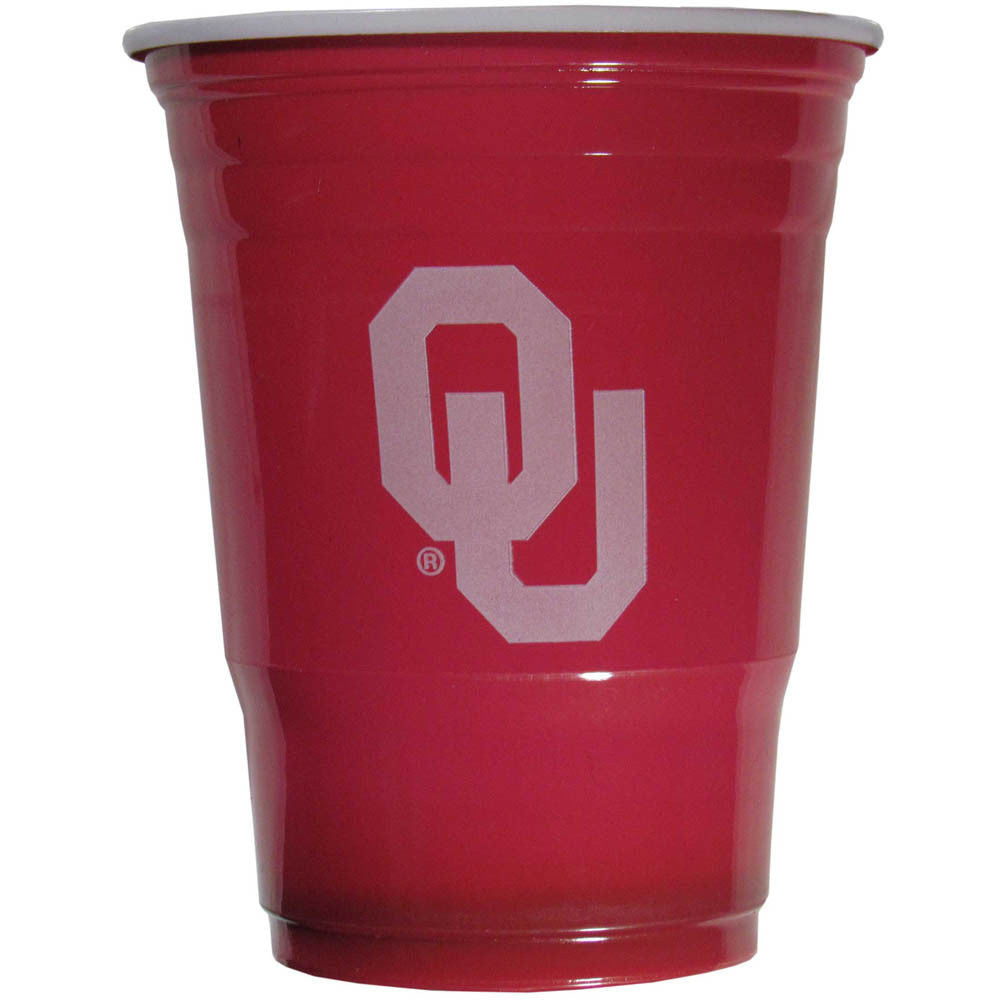OKLAHOMA SOONERS PLASTIC GAMEDAY CUPS 18OZ 18CT SOLO TAILGATE PARTY SUPPLIES